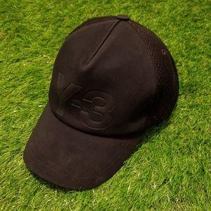 Y-3 Logo Yohji Yamam Trucker Hat Snapback Black